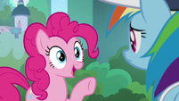 Pinkie Pie getting an idea S9E15