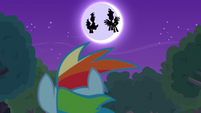 Princesses' silhouettes over the moon S9E13