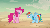 Rainbow Dash -but we have to convince her- S7E18