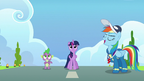 Rainbow Dash leads the flying routine S9E26