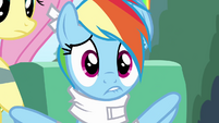 Rainbow Dash nervous lip bite S4E10