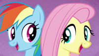 "Rainbow and Fluttershy ""we're a work in progress"" S7E14"