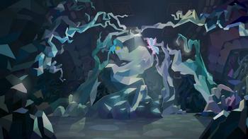 S08E22 Gallus i Silverstream przy wyjściu z jaskini