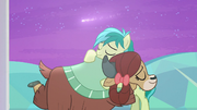 Sandbar and Yona hug under shooting star S9E7