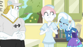Trixie looking suspicious at Nurse Redheart EGFF.png