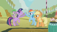Twilight Rainbow Dash win S1E13