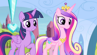 Twilight and Cadance -are you all right-- S4E24