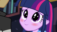 Twilight blushing at Flash EG