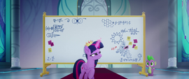 Twilight draws Celestia on the whiteboard MLPTM