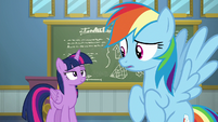 Twilight pleased to have woken up Rainbow Dash S6E24