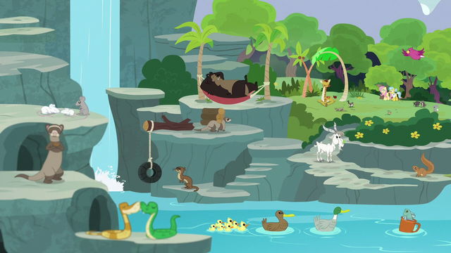 File:Animals enjoying the finished sanctuary S7E5.png