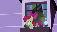 Apple Bloom looks outside her window S8E25