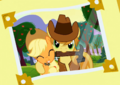 Applejack and Braeburn photo cropped S3E08.png