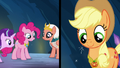 Applejack and Pinkie Pie wearing their elements S7E26.png