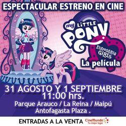 Equestria Girls en Cine Hoyts