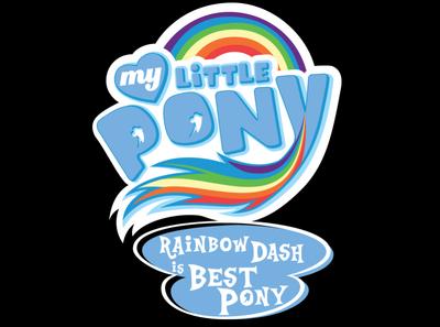FANMADE My Little Pony Rainbow Dash is best pony logo