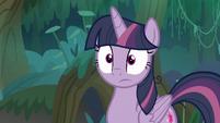 Fake Twilight Sparkle looking surprised S8E13