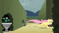 Fluttershy chasing after the butterflies S2E01