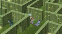 Main cast wandering the corn maze S5E21
