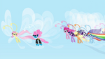 Mane 6 and Seabreeze fluttering S4E16