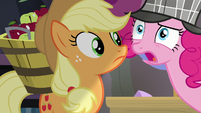 Pinkie Pie thanks Applejack in frustration S7E23