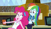 Pinkie getting excited next to Rainbow Dash EGDS12c