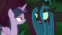 "Queen Chrysalis ""somewhere in this forest"" S8E13"