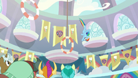 Rainbow Dash looping through her classroom S8E5