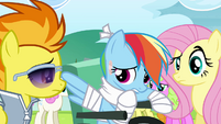 Rainbow Dash mumbling S4E10