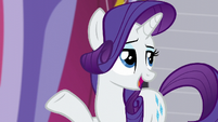 Rarity -she worked in all of the finest boutiques in Canterlot- S5E14