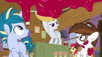 Rumble throwing jam on the fourth wall S7E21