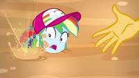 Sand bubbling near Rainbow Dash's face EGSB