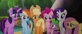 "Spike ""we're all behind you"" MLPTM"