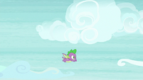 Spike flying through the clouds S8E24