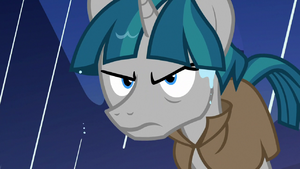 Stygian glaring at Pillars of Old Equestria S7E26