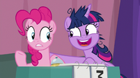 "Twilight Sparkle ""don't worry, Pinkie"" S9E16"