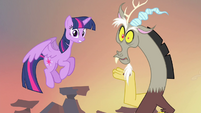 Twilight and Discord talking at the same time S4E11