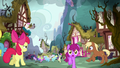 Apple Bloom watches the chaos in Ponyville S5E4.png