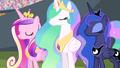 Cadance, Celestia, and Luna nodding S4E24.png