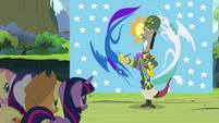 Discord dressed in army uniform S4E25