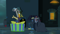 Discord pops out of a giant cake S4E25.png