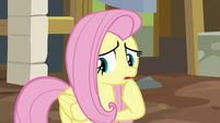 Fluttershy unsure of what to say S7E5