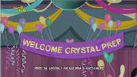 Friendship Games Welcome Crystal Prep banner - Albanian