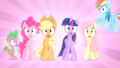 Main ponies and Spike shocked S04E08.png