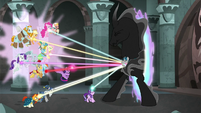 Mane Six and Pillars' ropes reach out to Stygian S7E26