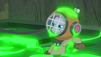 Pinkie Pie appears in a diving suit S7E25