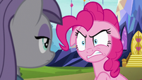 Pinkie Pie getting annoyed at Maud S7E4