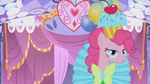 Pinkie Pie on her custom made Gala dress S1E14