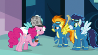 Pinkie Pie staring at Spitfire S7E23