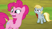 Pinkie Pie stretches -reeeeaaaally- S4E22